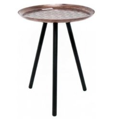 Bring a Vintage Luxe edge to any home interior or display with this beautifully distressed side table