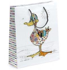 A medium sized Bug Art Dotty Duck Gift Bag