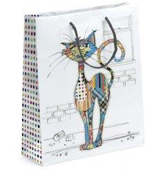 A medium sized Bug Art Cola Cat Gift Bag