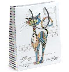 A Large Bug Art Cola Cat Gift Bag