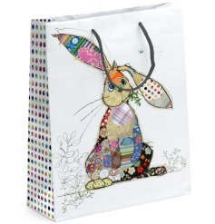 A medium sized Bug Art Binky Bunny Gift Bag
