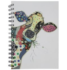 An A5 Bug Art Connie Cow Design Notebook