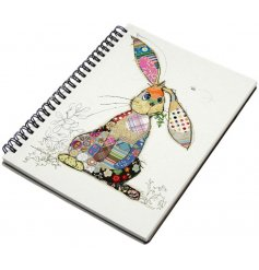 An A5 Bug Art Binky Bunny Notebook