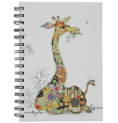An A5 Bug Art Gerry Giraffe Design Notebook
