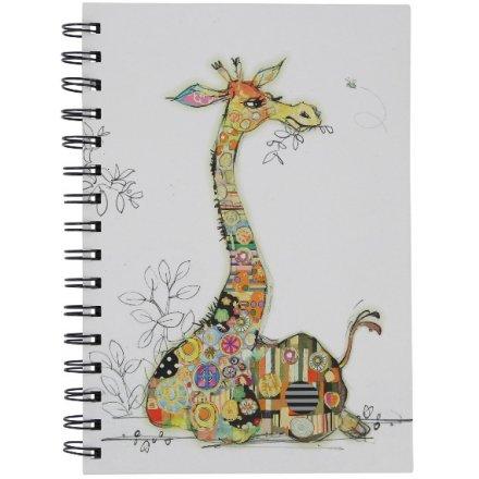 A6 Giraffe Notebook, Bug Art