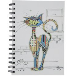An A5 Bug Art Cola Cat Design Notebook