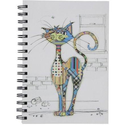 A6 Cat Notebook, Bug Art