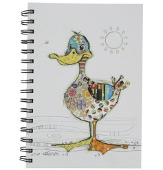 A Bug Art Dotty Duck Design A5 Notebook