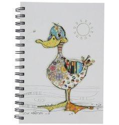 An A5 Bug Art Dotty Duck Notebook