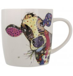 A Bug Art Connie Cow China Mug