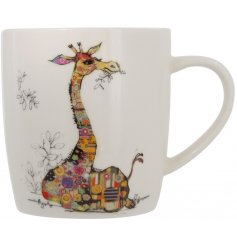 A Bug Art Gerry Giraffe China Mug in a box