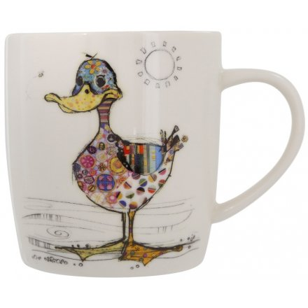 A Bug Art Dotty Duck Design Mug In Gift Box
