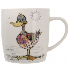 A Bug Art Dotty Duck China Mug