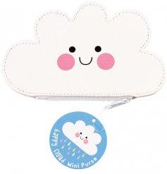 A cute cloud coin purse with zip.