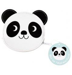 A cute Panda design vinyl coin purse with zip.
