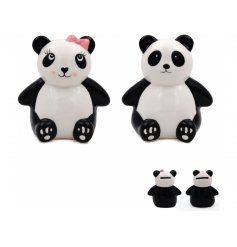 An adorable assortment of Panda themed money boxes.