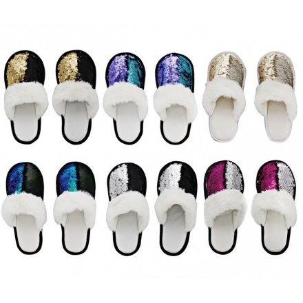 Colour Changing Sequin Slipper Assortments