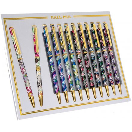 Tropical Print Laser Ball Point Pens