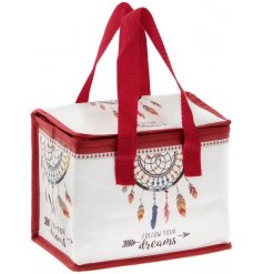 A stylish fabric lunchbag with an insulated centre for added freshness to your lunch