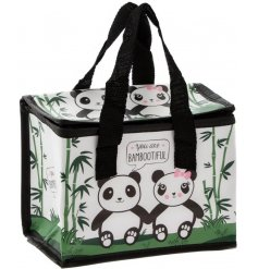 Add a sweet touch to any lunch time with this Bambootiful themed fabric lunch bag
