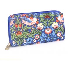 A large navy Strawberry Thief Wallet
