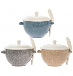 these assorted soup bowls will be sure to tie in perfectly with any themed kitchen interior