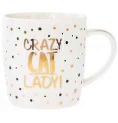 This glitzy fine china mug will be sure to let all know who your real four pawed love is