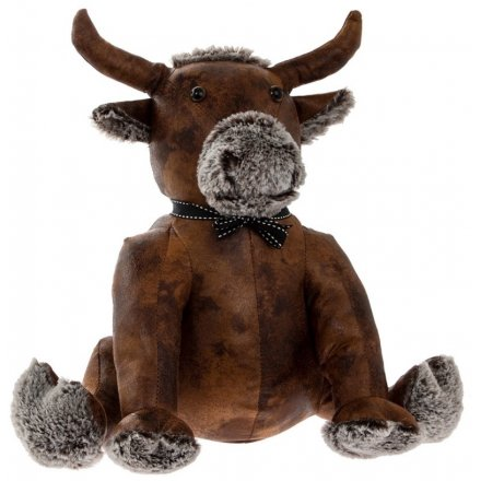 Bull Faux Leather Doorstop