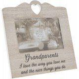 Wooden heart photo frame with sentimental Grandparents text
