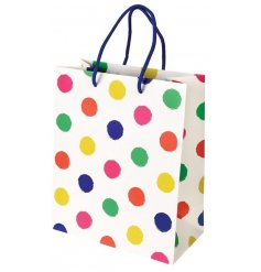 A fun and colourful gift bag, perfect for any event or occasion that requires gift giving!