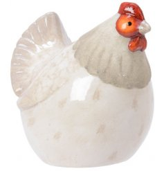 A simple yet chic assortment of ornamental Chickens. Perfect accessories to any Country Charm themed Kitchen