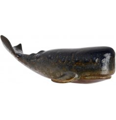 Bring a touch of the deep oceans to your home interior or Nautical themed rooms with this charmingly rustic Whale Orname