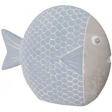 Blue Concrete Fish, 19cm