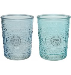 Add these charming ocean toned drinking glasses to your kitchenware for a summer breeze feel