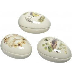 covered with watercolour inspired illustrations, these assorted egg decorations are a must have in the home