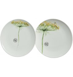 Give your dining table a charming Spring touch with this beautiful assortment of Porcelain breakfast plates