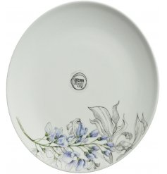 porcelain plate with a beautiful purple flower decal