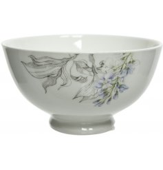 Bring the feeling of a Delicate Spring Morning into your kitchen interior with this beautifully decorated bowl