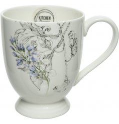 Bring a beautiful blossoming touch to your table set up with this charming Porcelain cup