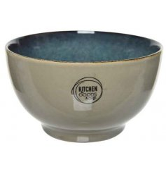 A stoneware based bowl with a Dusky Brown and Smoke Grey two tone effect and added speckle finish