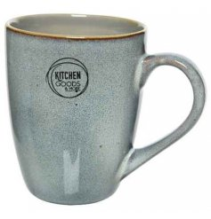 A stoneware based mug with a Dusky Brown and Smoke Grey two tone effect and added speckle finish