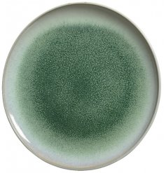 An attractive stoneware plate with an ombre green glaze. A natural style product with a beautiful rich green colour.