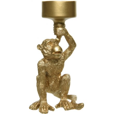 Monkey Candle Holder 15cm