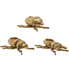 Bring a twist to any home decor with this assortment of Insect shaped candle holders