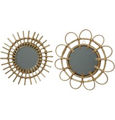 Bring a beautifully rustic touch to any home interior with this assortment of willow mirrors