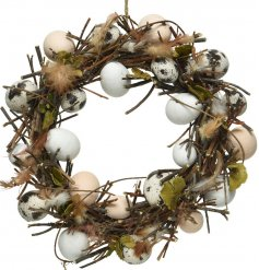 A beautifully unique decorative Wreath, perfect for the upcoming Easter