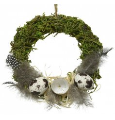 Bring a flurry of Easter to your home interior with this delightfully finished Wreath