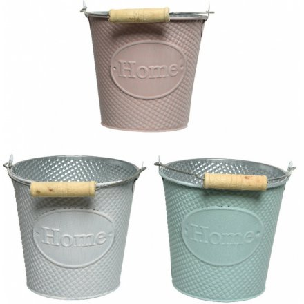 Pastel Buckets, 16cm
