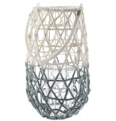 Bring the cool vibes of Greece and Ibiza to your home with this super chic and stylish cotton lantern.