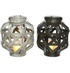 Light up your home and garden with this mix of 2 attractive woven lanterns.